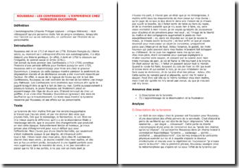 Rousseau, Les Confessions, La tyrannie de Monsieur Ducommun