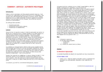 Diderot, L'Encyclopédie, Autorité politique