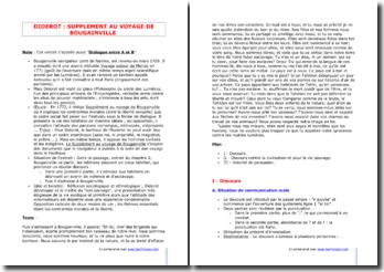 Diderot, Supplément au voyage de Bougainvile : Dialogue entre A et B