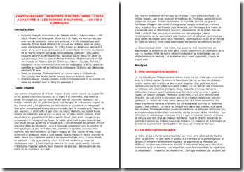 Chateaubriand, Mémoires d'outre-tombe, La vie à Combourg (Livre 3 - Chapitre 3)