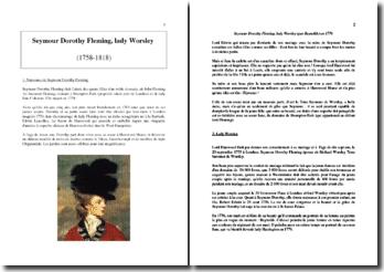Seymour Dorothy Fleming, Lady Worsley (1758-1818)