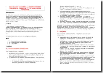 Carrière, La Controverse de Valladolid, Chapitre 11