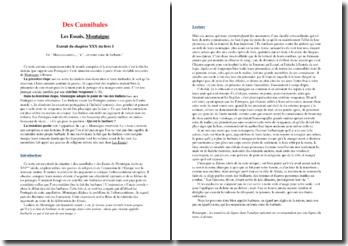 Montaigne, Des Cannibales extrait des Essais