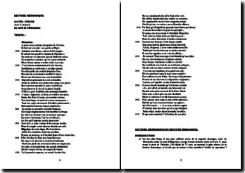 Racine, Phèdre : lecture méthodique du récit de Théramène
