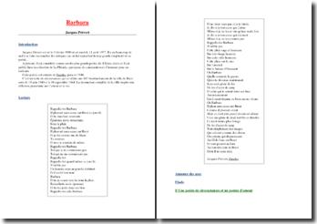 Jacques Prévert, Barbara extrait de Parole