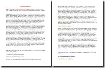 La dissertation sur la représentation théâtrale