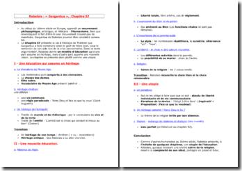 Rabelais, Gargantua, Chapitre 57