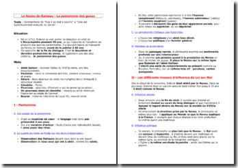Diderot, Le Neveu de Rameau, La Pantomime des Gueux