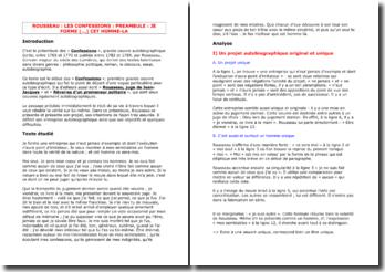 Rousseau, Les confessions, Prologue