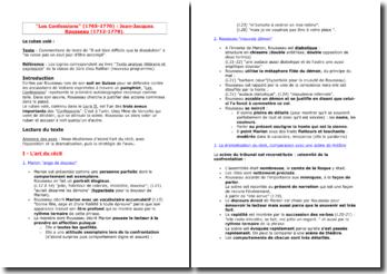 Rousseau, Les Confessions, Le Ruban