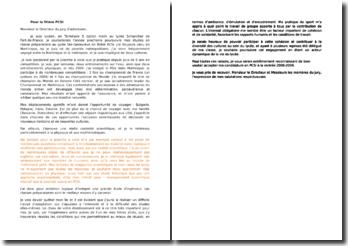 Exemple lettre de motivation en vue d'intégrer une classe préparatoire scientifique