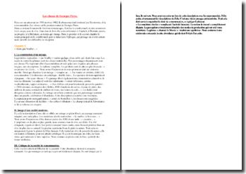 Perec, Les choses, Chapitre 10 (lecture analytique)