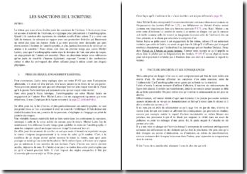Les sanctions de l'écriture autobiographique