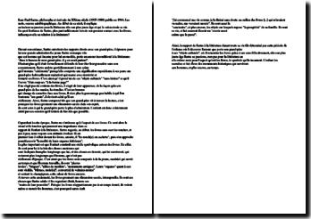 Sartre, étude d'une page de Les Mots : premier contact avec les livres