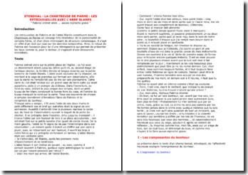 Stendhal, La chartreuse de Parme, Chapitre 8 : Les retrouvailles avec l'abbé Blanès