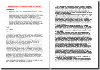 Montesquieu, Lettres persanes, Lettre 24
