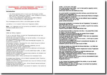 Montesquieu, Lettres persanes, Lettre 12