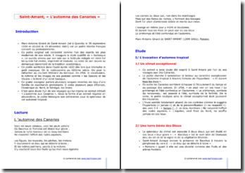 Saint-Amant, L'Automne des Canaries