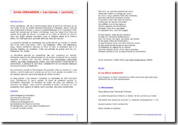 Emile Verhaeren, Les Usines (extrait)