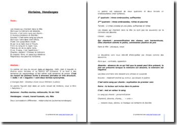 Paul Verlaine, Vendanges, tiré du recueil Jadis et Naguère