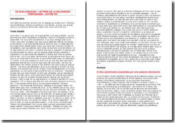 De Guilleragues, Lettres de la religieuse portugaise (Lettre III)