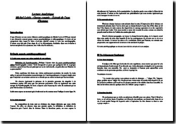 Michel Leiris, L'Âge d'homme, Gorge coupée (lecture analytique)