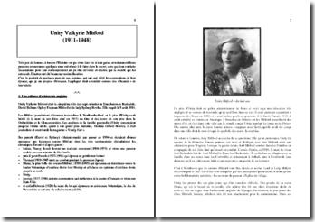 Unity Valkyrie Mitford (1911-1948) égérie d'Adolf Hitler