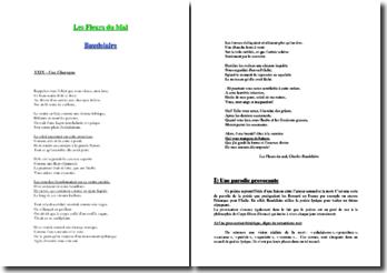 Baudelaire, Les Fleurs du Mal, Une Charogne