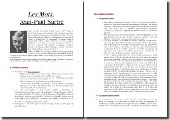 Jean Paul Sartre, Les Mots, Le jardin du Luxembourg