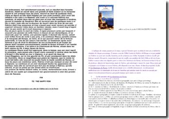 Stendhal, La Chartreuse de Parme, Epilogue