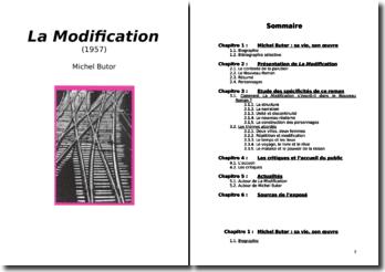 Michel Butor, La Modification