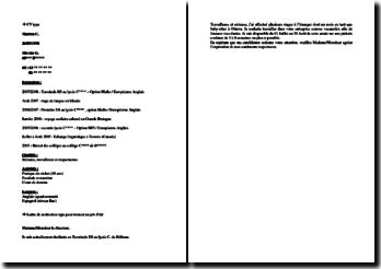 CV et lettre de motivation type pour trouver un job d'été
