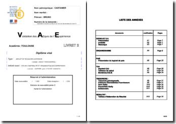 Exemple de livret n°2 de VAE BTS Comptabilité et Gestion des Organisations