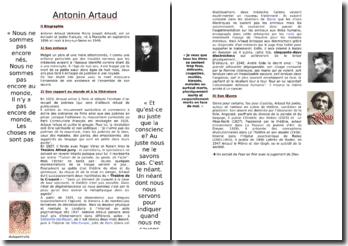 Biographie et oeuvre d'Antonin Artaud