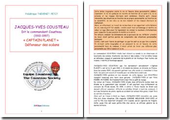 Le commandant Cousteau : Captain planet et défenseur des océans