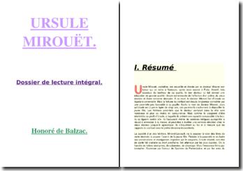 Balzac, Ursule Mirouet, dossier de lecture intégrale