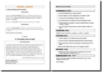 Le brevet de français, sujet d'entraînement