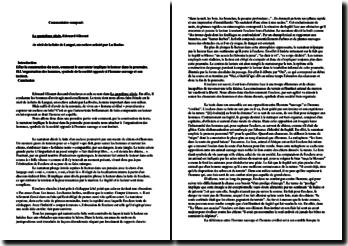 E. Glissant, Le quatrième siècle : récit de la fuite de l'esclave Langué (commentaire)