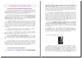 La dynamique de la stratification sociale (SES - Terminale ES)