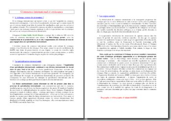 Commerce international et croissance (SES - Terminale ES)