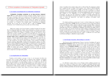 L'Union européenne et la dynamique de l'intégration régionale (SES - Terminale ES)