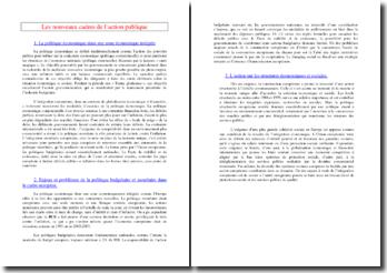 Les nouveaux cadres de l'action publique (SES - Terminale ES)