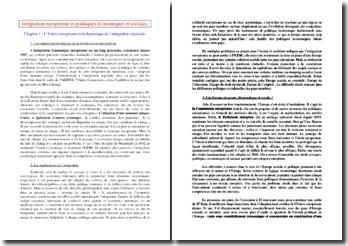 Intégration européenne et politiques économiques et sociales (SES)