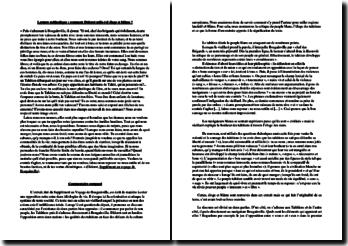 Diderot, Supplément au voyage de Bougainville, 'Puis s'adressant à Bougainville, il ajouta...