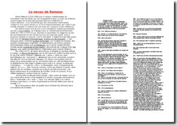Diderot, Le Neveu de Rameau, imaginez... à ...il vous semble