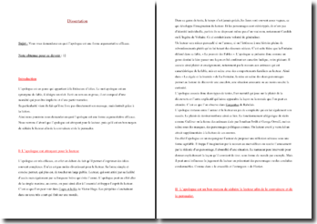 dissertation apologue forme argumentative efficace