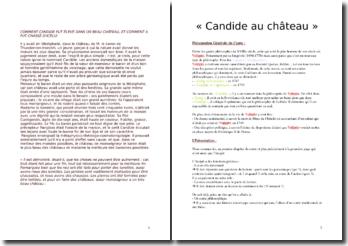 Voltaire, Candide, Incipit (Commentaire)