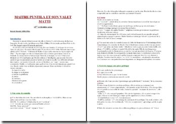 Bertolt Brecht, Maître Puntila et son Valet Matti, Scène 12