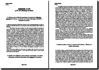 Anouilh, Antigone : Le monologue du choeur (lecture analytique)
