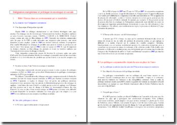 Intégration européenne et politique économique et sociale (SES - Terminale ES)